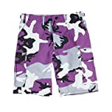 Camouflage Cargo Shorts Ultra Violet Camo Military Shorts XLRG
