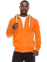 Mens Hipster Hip Hop Basic Lightweight Zipup Hoodie Jacket (Upto 6XL Plus)