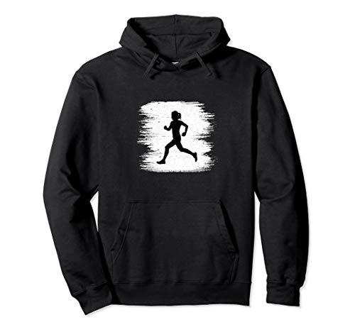 (Vintage Track And Field Runner Girl Sprinter Running Pullover Hoodie)