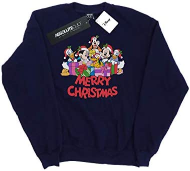 Disney Herren Mickey Mouse and Friends Christmas Sweatshirt Navy Blau Small
