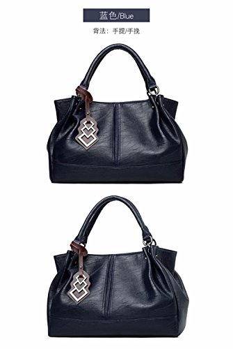 bleu Sac capacité de Grande la de bandoulière à Sacs Mode Main Bag à des CCZUIML Femmes qzgZ6q