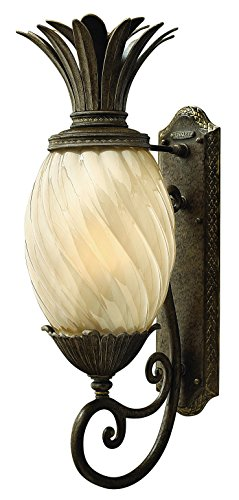 Hinkley Outdoor Pearl - Hinkley 2124PZ Leaf, Flower, Fruit One Light Wall Mount from Plantation collection in Bronze/Darkfinish,