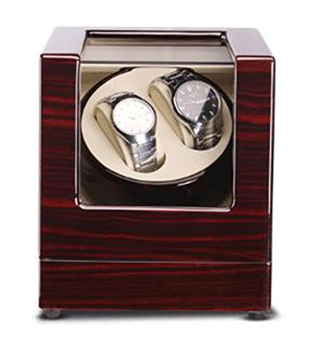 Automatic Watch Winder Dual Automatic Watch Winder Luxury Automatic Watch Display Case Automatic 2 Watch Winder Rotator (Color : White)