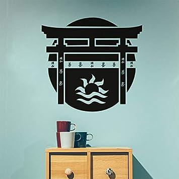 Torii Puerta Japonesa Etiqueta de La Pared Tatuajes de Vinilo ...