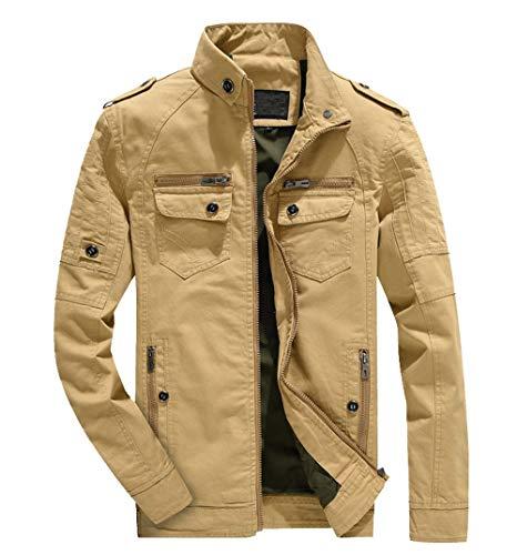 Militaire Manteau Chaude D'hiver Veste Coton Homme Hommes En Bazhahei Kaki À Blouson Outwear Glissière Classic H1PxTwRg