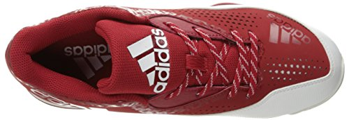 Chaussure De Baseball Powerail 4 W Puissance Adidas Performance Rouge / Blanc / Argent Métallisé