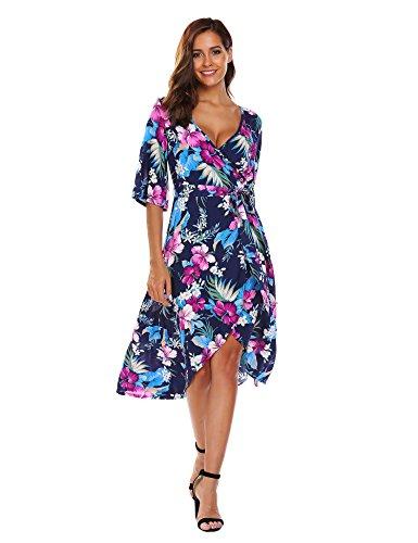 V-Neck Kimono Dress - 5