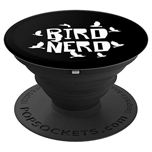 Bird Nerd - Birds Animal Lover - Silhouette Image - PopSockets Grip and Stand for Phones and -