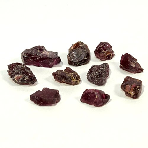 29 Carat Pyrope Garnet Rough Stone Natural Red Almandine Crystal Mineral Cabochon Gemstone - 10PCS