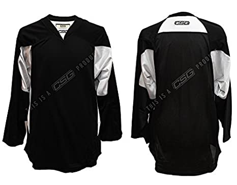 Amazon.com   Adult GOALIE Hockey Premium Practice Jersey (Black ... 504aa2f9c24