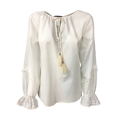 Pennyblack Ecru Donna Sangallo Con Inserti Mod In 100 Cotone Effige Camicia rHEqFr