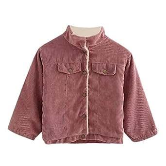 Amazon.com: Girls Winter Corduroy Coat Jacket: Clothing