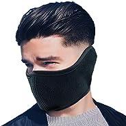 Winter Face Mask Men Women Fleece Windproof Half Face Mask for Outdoor Sport