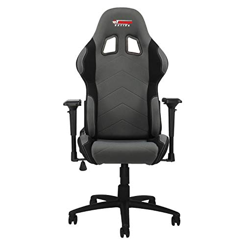 GT Omega PRO Racing Fabric Gaming Chair with Lumbar Support – Breathable Ergonomic Office Chair with 4D Adjustable Armrest Recliner – Esport Seat for Ultimate Gaming Experience – Grey Next Black
