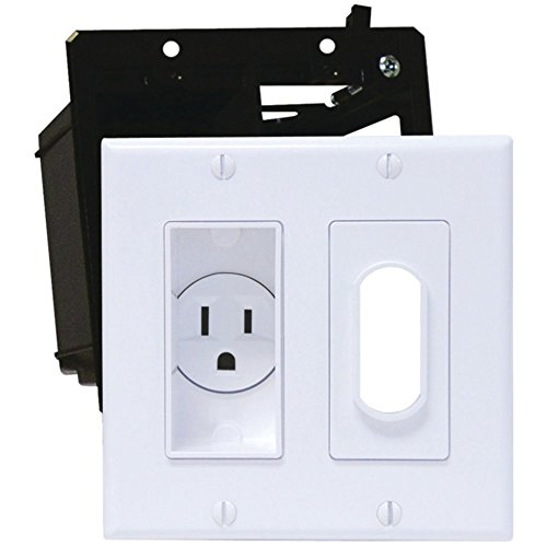 Midlite 2A4641-W D?©cor Recessed Double Gang Receptacle Kit - White Consumer Electronics Accessories (Recessed Cor Receptacle)