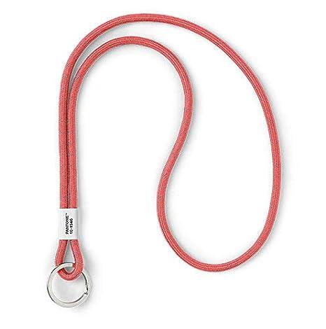 Pantone Design-Schl/üsselband Key Chain Long Schl/üsselanh/änger robust und farbenfroh rot lang red 2035