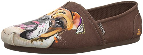 (Skechers BOBS Women's BOBS Plush-Breeds Ballet Flat, Brown - BD Babe, 9 M)