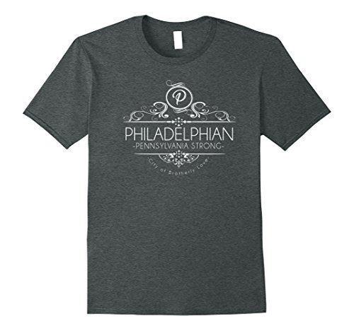 Mens Philadelphian Pride- Philadelphia PA Strong T-shirt XL Dark - Pa Philadelphia In Shopping