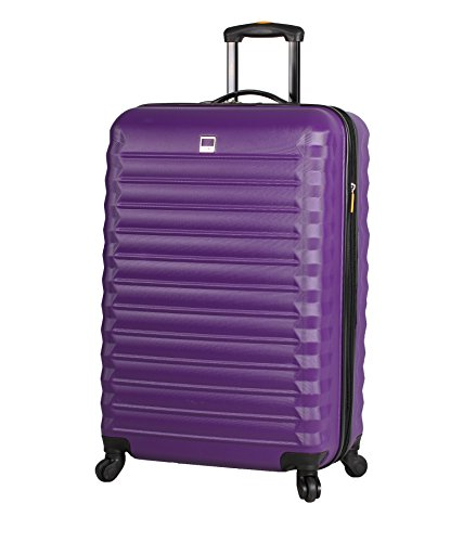 Lucas ABS Carry On Hard Case 20 inch Rolling Suitcase Set With Spinner Wheels (20in, Purple)