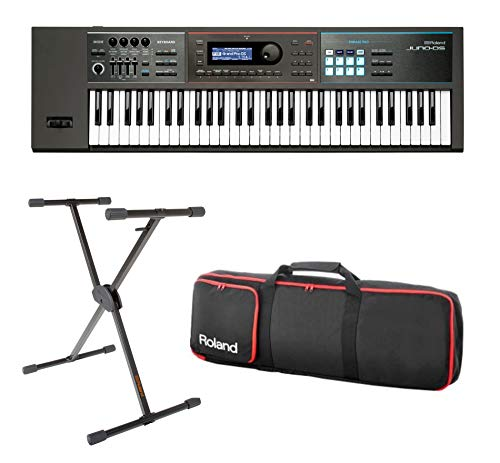 Full Compass Exclusive JUNO-DS61-K - 61-Key Synthesizer with Single Brace Keyboard Stand and Bag