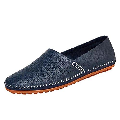Scivolare Scarpe Durevole Dooxi Moda Piatto Blu1 Elegante Uomo Casuale Scarpe Mocassini xgnq7Rpw
