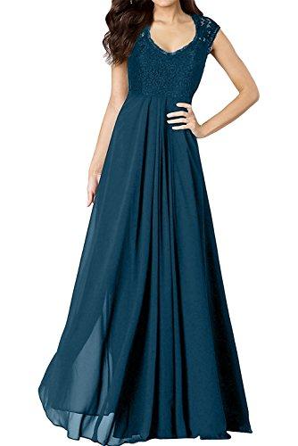 Damen 2017 Abendkleider Bodenlang Ivydressing Inkblau Promkleider Ballkleider Lang Partykleider Spitze Chiffon zcSdWpUqd