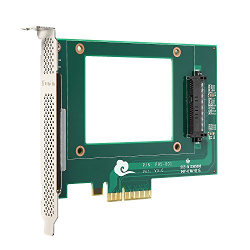 Funtin PCIe NVMe SSD Adapter with U.2 ( SFF-8639 ) Interface for 2.5'' NVMe SSD by Funtin