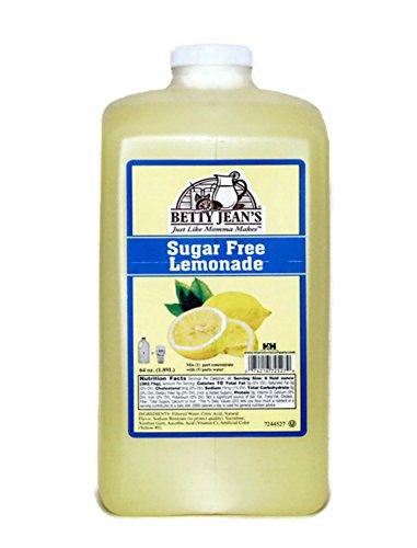 Sugar Free Lemonade Juice Concentrate | Betty Jean's Old Fashioned Premium Light Lemonade Mix | 1/2 Gallon Jug | ✡ OU Kosher | Commercial Beverage Dispenser Ready -