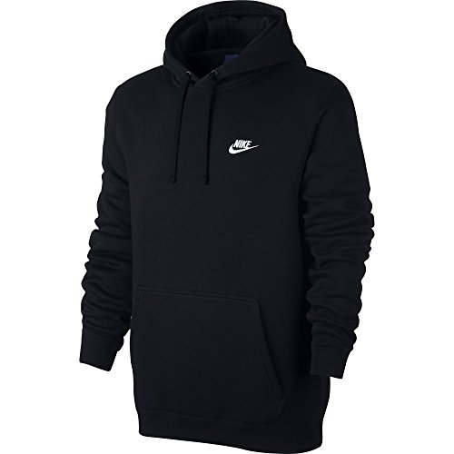Nike Mens Sportswear Pull Over Club Hooded Sweatshirt - Large - (Cotton Hooded Sport Shirt)