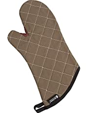 "San Jamar 800FG13 BestGuard Commercial Heat Protection Up to 450° F Oven Mitts (Pair), 13"" Length, Tan"