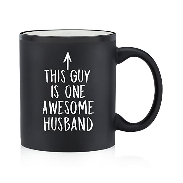 One Awesome Husband Funny Coffee Mug Great Birthday Gift Idea For Men Novelty Anniversary Present Him Humorous Christmas 11 Oz Matte