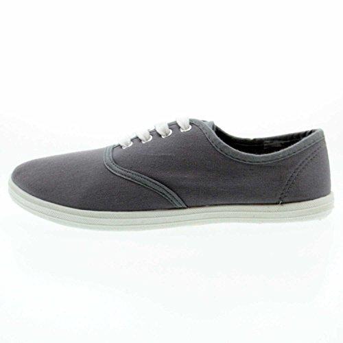 donna V Grigio 851 Footwear Scarpe 564000 Grigio Scuro stringate Hengst B wxTq06