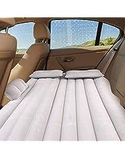 Dancal Samochód dmuchany, nadmuchiwany materac na tylne siedzenie w samochodzie dmuchany do odpoczynku snu podróży na kemping (srebrny szary)