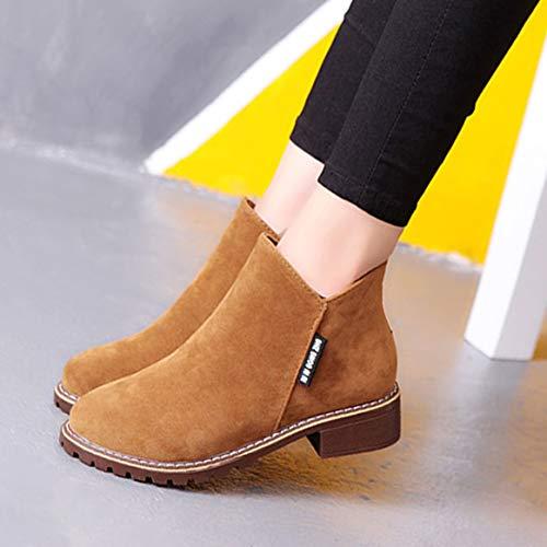 Courtes Mode Femmes Martin Talons Cheville De Chaussures Bottes Chunky F Bottes Bottes vvqrUSxfwE