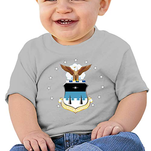 States Air Force Academy Logo Toddler Short-Sleeve Tee for Boy Girl Infant Kids T-Shirt On Newborn 6-18 Months Gray 18M