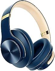 DOQAUS Bluetooth Koptelefoon over ear, [tot 52 uur] Draadloze Koptelefoon met 3 EQ-modi, Dubbele 40 mm Drivers, Geheugen-eiwit-oorkussens en Ruisonderdrukking Geïntegreerde Microfoon voor Smartphone / PC / TV (Marineblauw)