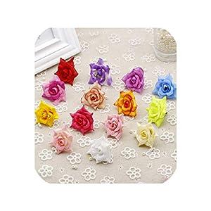 Artificial Rose Silk Flower Head Scrapbooking Flowers Handmade Wreath Material 2