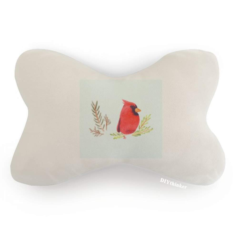DIYthinker Bird Animal Magpie Red Car Neck Pillow Headrest Support Cushion Pad