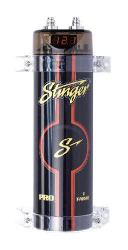 - Stinger SPC111 1 Farad 16V, 20V Black Digital Capacitor with Red Display