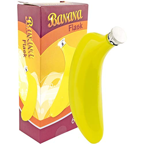 Fairly Odd Novelties FON-10208 Banana Flask, 6oz, 6 oz, Yellow]()