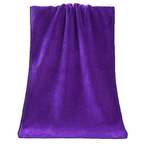LIKESIDE 1PC Bathing Towel Shower Absorbent Fiber Soft Comfortable Bath Towel (Purple) from LIKESIDE_Home and Garden