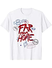 21ca978b Spider-Man: Far From Home Travel Stamps T-Shirt · Marvel