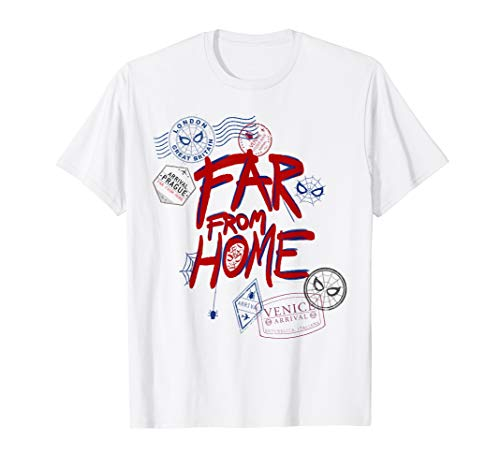 Marvel Spider-Man: Far From Home Travel Stamps T-Shirt ()