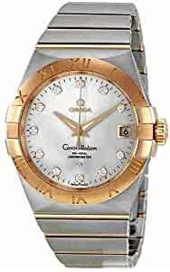 Omega Constellation Chronometer Silver Dial Automatic Stainless Steel/Rose Gold Brushed Mens Watch 123.20.38.21.52.001
