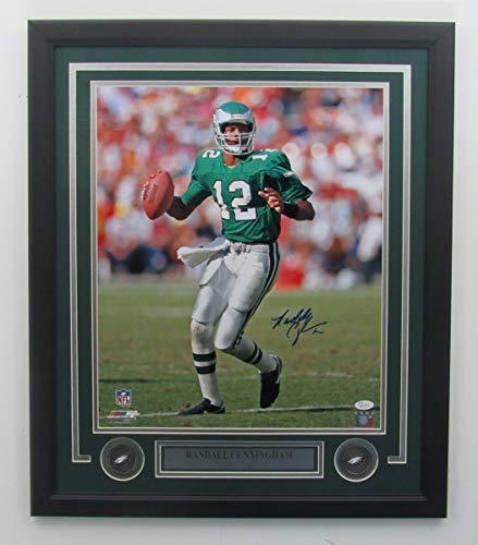 Randall Cunningham Eagles Signed/Framed 16x20 Color Photo JSA 141704