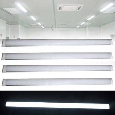 4 Pack Excellent LED Batten Lights,6000-6500k,Day White Light LED Fixture Garage Shop Lights
