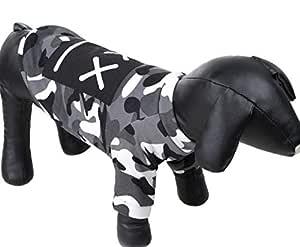 Black white camouflage pet dog coat fashion pet dog coat