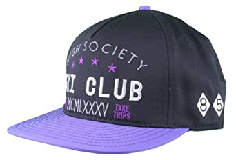 Dope Couture High Society Black/Purple Snapback Hat