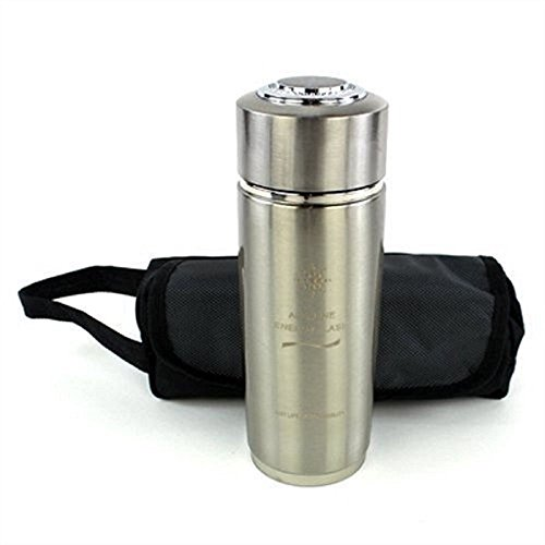 Neutralizes Heavy Metals (Alkaline Water - Nano Energy Bottle Flask Cup - Portable Metal Water Ionizer - Makes great-tasting Alkaline Ionized water ZHZ)