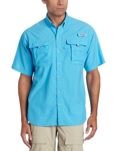 Columbia Men's PFG Bahama II Short Sleeve Shirt, Riptide, Large - Short One Sleeve T-shirt Good